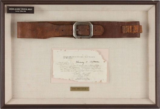 Jesse James Gun Belt, from the Collection of Harry Hoffman