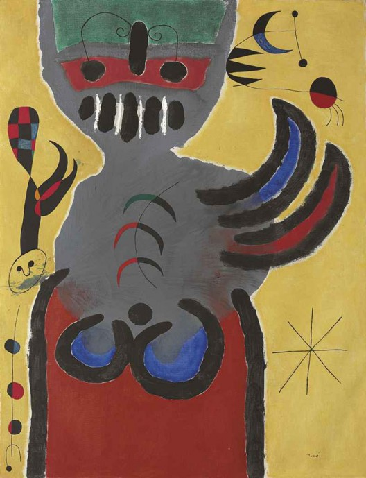 Joan Miró's La tige de la fleur rouge pousse vers la lune - The Stem of the Red Flower Grows Toward the Moon