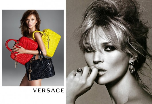 Kate Moss strips to promote Versace's Vunk Collection
