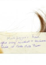 Lock of Mick Jagger's Hair at Bonhams Auction