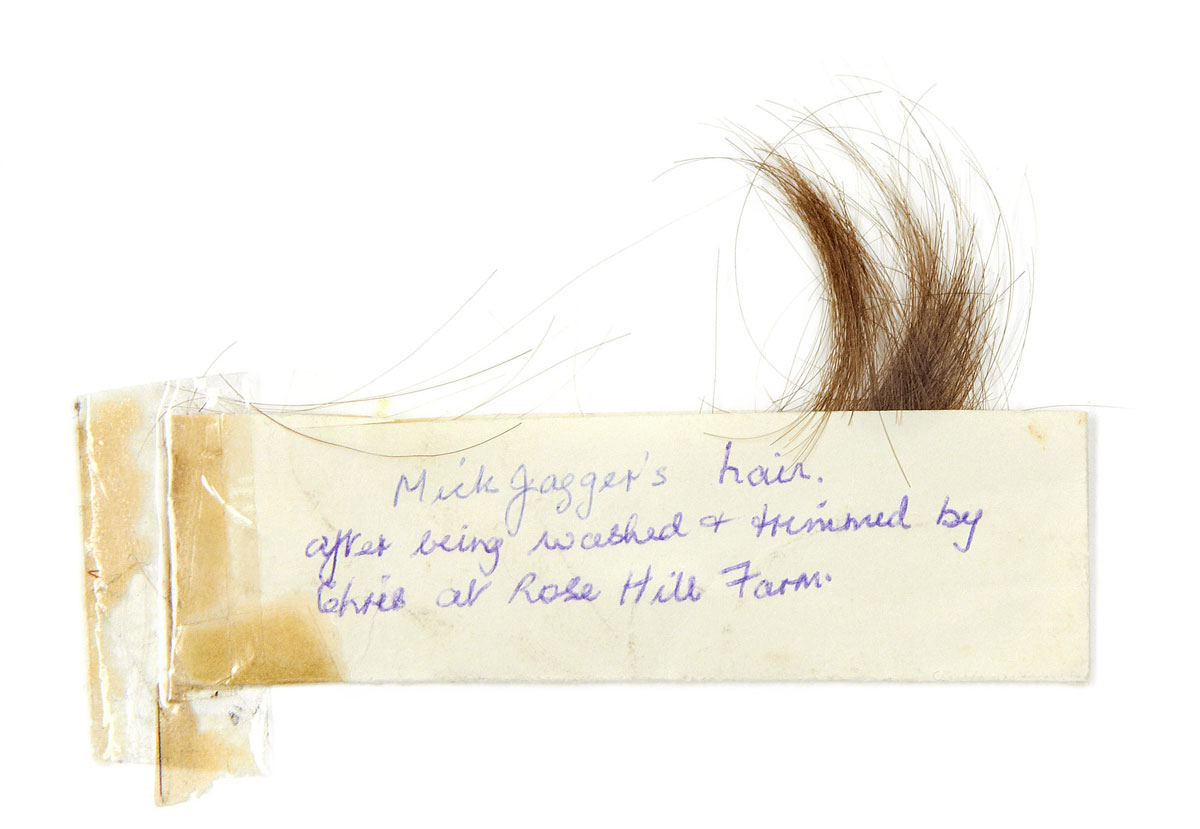 Lock of Mick Jagger's Hair