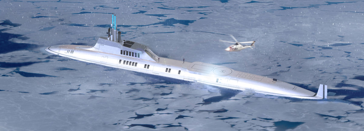 MIGALOO Private submersible yacht by motion code blue