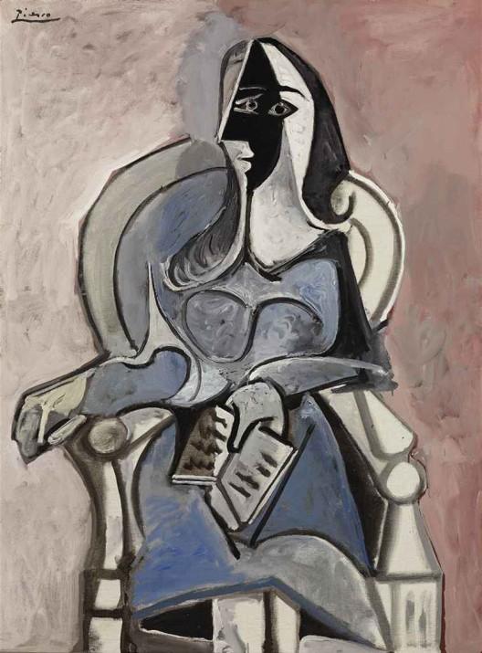 Pablo Picasso's Femme Assise Dans un Fauteuil