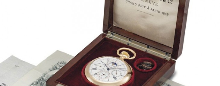 A rare 18K gold Patek Philippe pocket watch is expected to fetch $1.5 million