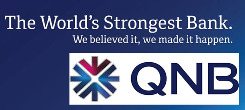 Diamond Embedded QNB Private World Elite MasterCard Credit Card in the Middle East and Africa Region.