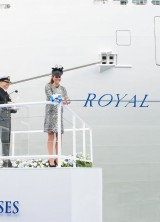 Royal Princess Cruise Ship Christened by The Duchess of Cambridge