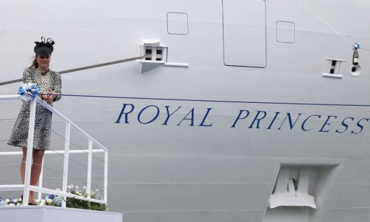 Duchess of Cambridge names Royal Princess ship