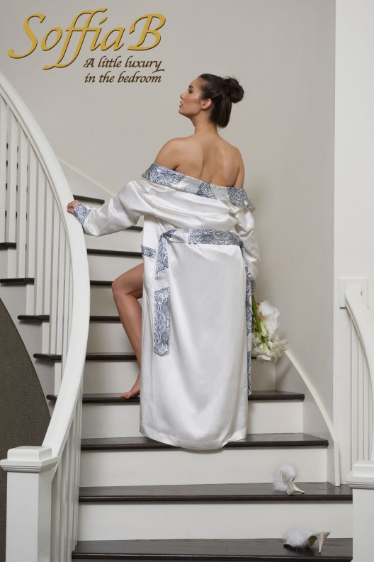 Luxury Robe & Dressing Gown Designer SoffiaB has unveiled the Summer 2013 Delphine Collection