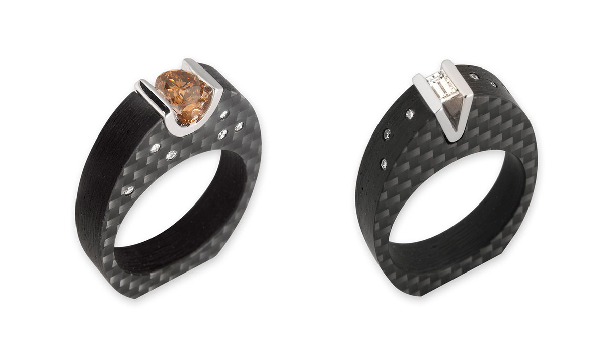 ringl carbon fibre jewelry collection the simply