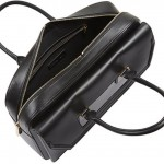 Alexander McQueen Black Leather Heroine Laptop Briefcase