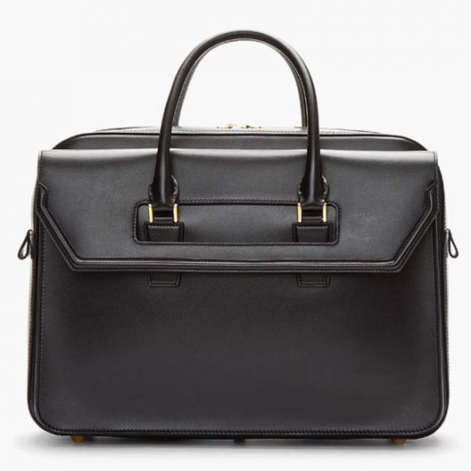 elegant black leather heroine laptop briefcase