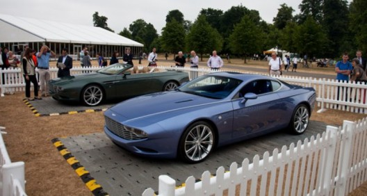 Two new Aston Martin Zagatos roll out to mark the automaker's centenary