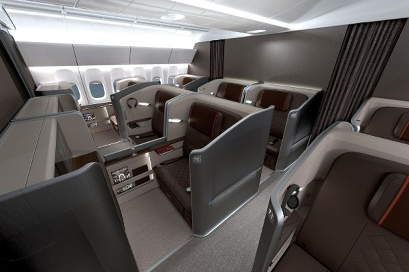 Singapore Airlines 39 Newest First Class Cabin Designed By