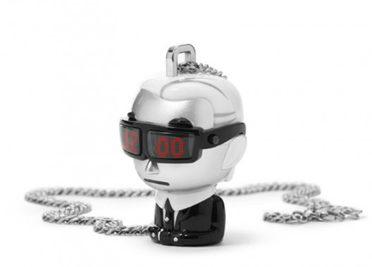 Karl Lagerfeld tells time with Tokidoki necklace