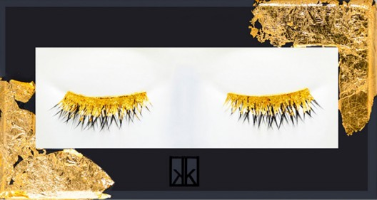 Pure gold eyelashes up for grabs at Barney's, New York