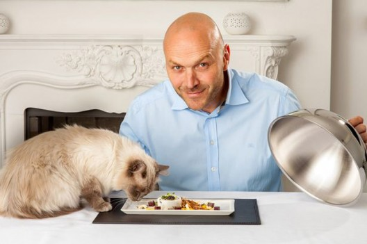 """meal for a cat that has the finest fish, beluga caviar and other savory ingredients, and costs """"only"""" $39"""