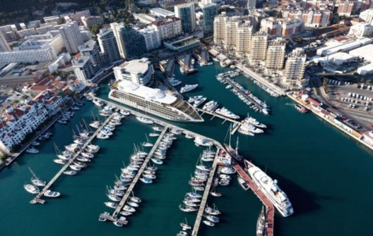 No land? No problem. Gibraltar's $200m five-star yacht hotel