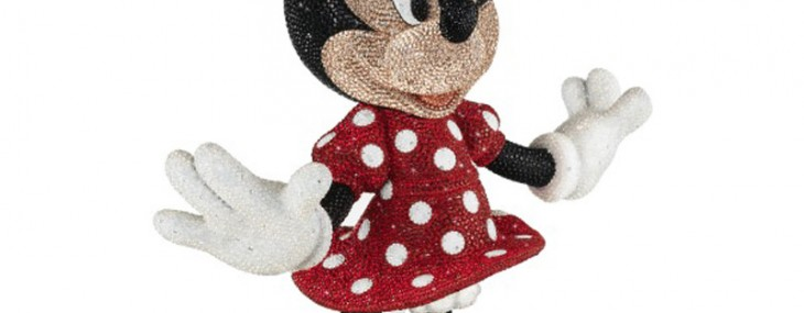 Limited Edition Swarovski studded Mickey and Minnie Mouse