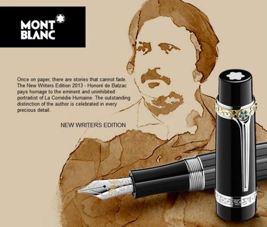 MONTBLANC UNVEILS WRITER'S EDITION 2013: HONORE DE BALZAC