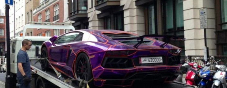 A $450,000 Purple Lamborghini Aventador Could Be Destroyed