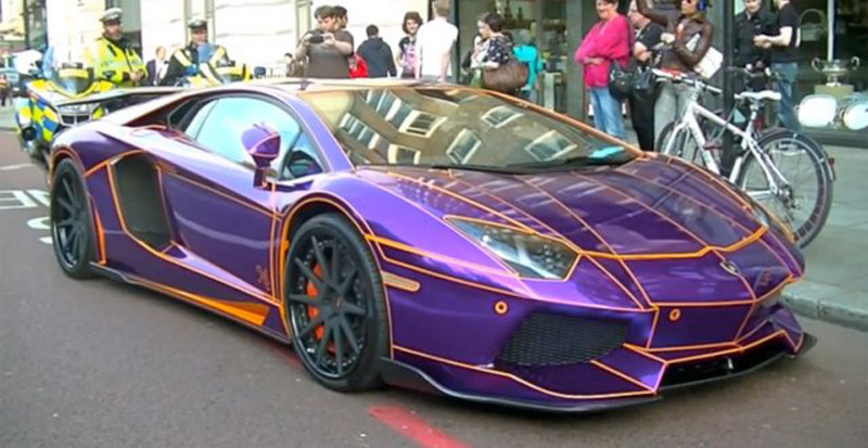 A 450 000 Purple Lamborghini Aventador Could Be Destroyed