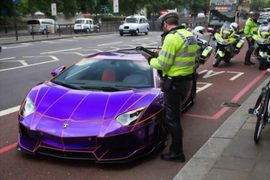 Aventador confiscated by the police in London because the car was not insured