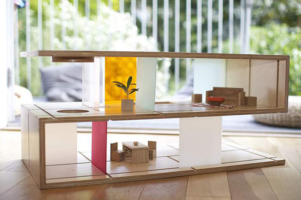 Qubis Modern Doll Houses And Furniture In One By Amy