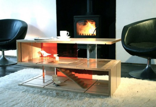 Versatile Coffee Table Design That Transforms into a Doll House