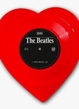 Limited Edition Red Heart Shaped Vinyl of Beatles' Love Me Do / P.S. I Love You