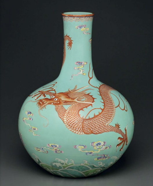 A-Very-Rare-Large-Famille-Rose-Turquoise-Ground-Bottle-Vase
