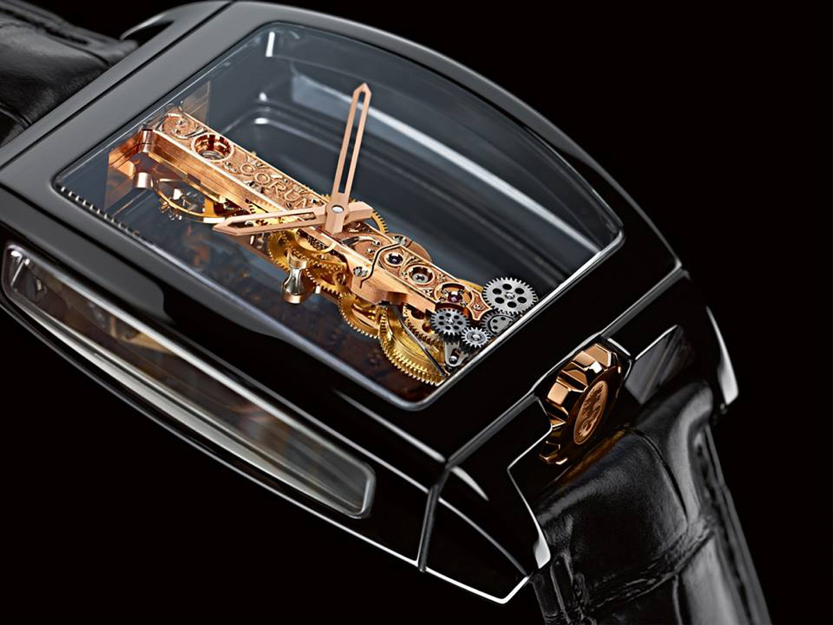 The Swiss manufacturer of watches, Corum, has introduced a new watch of his famous Golden Bridge model
