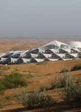 The Desert Lotus Hotel In The Middle Of The Mongolian Desert