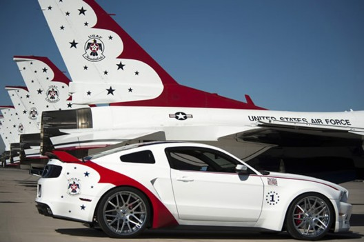 Unique U.S. Air Force Thunderbirds Edition 2014 Ford Mustang GT sells for $398,000
