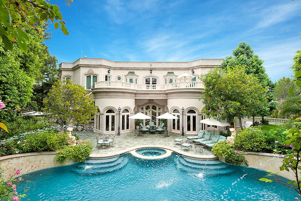 1091 Laurel Way, Beverly Hills, California is a, private, gated, French Rococco style Tennis Court estate