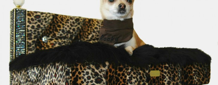 Bejeweled dog furniture commissioned for a chihuahua sells at Harrods