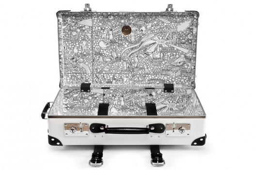 Globe-Trotter White Collection Of Luggage Cases