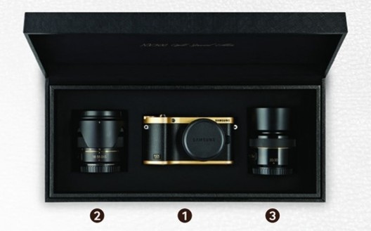Gold-plated Samsung NX300 camera goes on sale