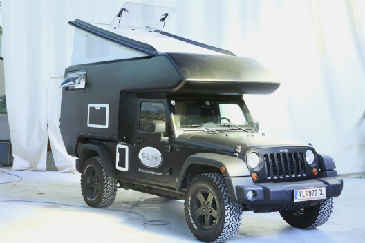 The Jeep Action Camper is an expedition ready slide-on camper developed for two passengers