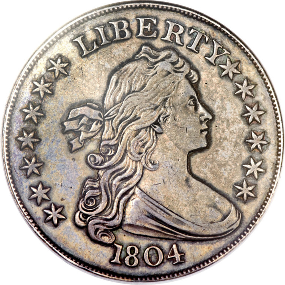 "The Mickley-Hawn-Queller specimen of the 1804 $1 silver dollar or known among collectors as King Of American Coins"" sold for $3,877,500"