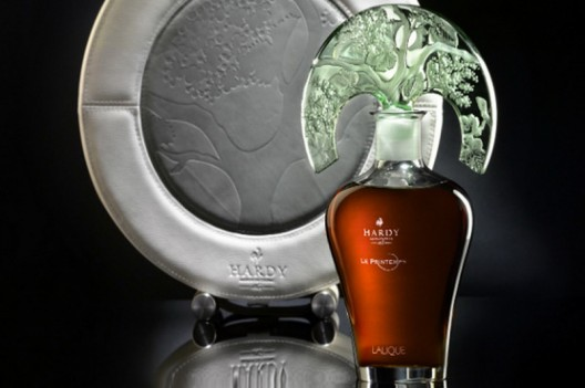 The latest bottle of premium cognac company Hardy made by Lalique