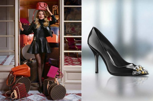 American Dree Hemingvey is the model of Louis Vuitton Fall / Winter 2013 collection of shoes