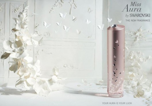 After Aura by Swarovski Love Collection, Swarovski designers are launching one more fragrance for 2013 named Miss Aura