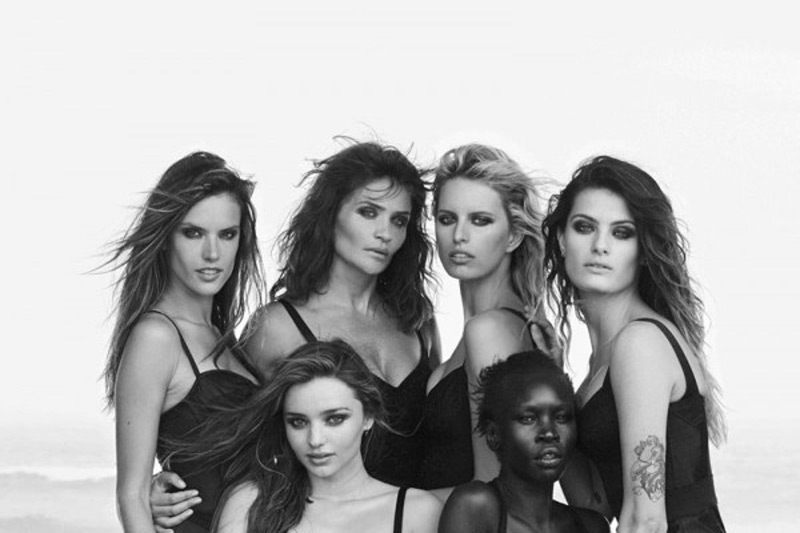 Supermodels strike a pose for Pirelli in honor of the iconic Calendar's 50th Anniversary