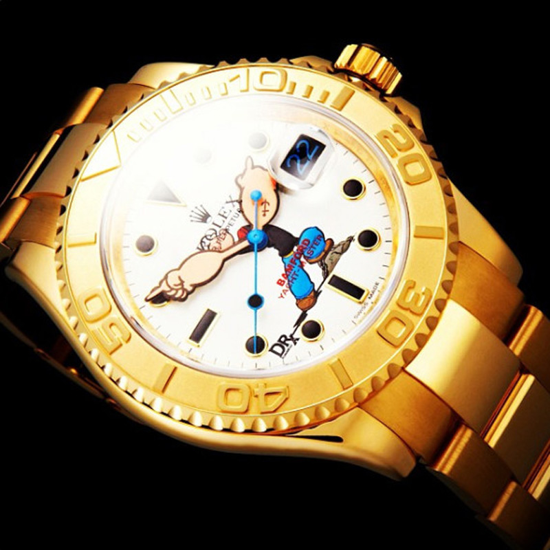 "new 18ct yellow gold Special Edition ""Popeye"" Rolex Yachtmaster"