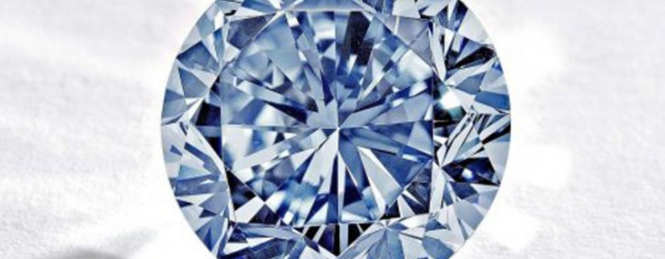 A rare blue round diamond will be on sale at 7 October in Hong Kong