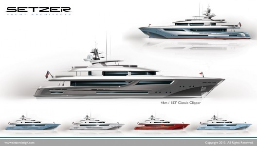 Setzer Yacht Architects offers first look at New American Motoryachts Series