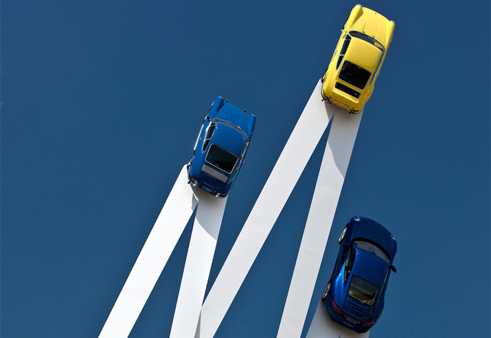Celebrating The Iconic Porsche 911 Car Model: Sky-High Sculpture By Gerry Judah