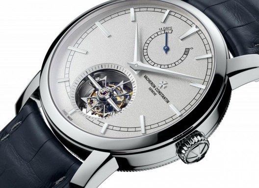 The famous watchmaker, Vacheron Constantin Patrimony Traditionnelle introduced 14-Day Tourbillon Collection Excellence Platine model, a limited edition made of platinum