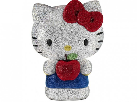 22,000 crystals bling the 2013 Hello Kitty Swarovski model