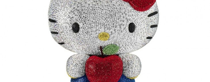 22,000 crystals bling the 2013 Hello Kitty Swarovski model